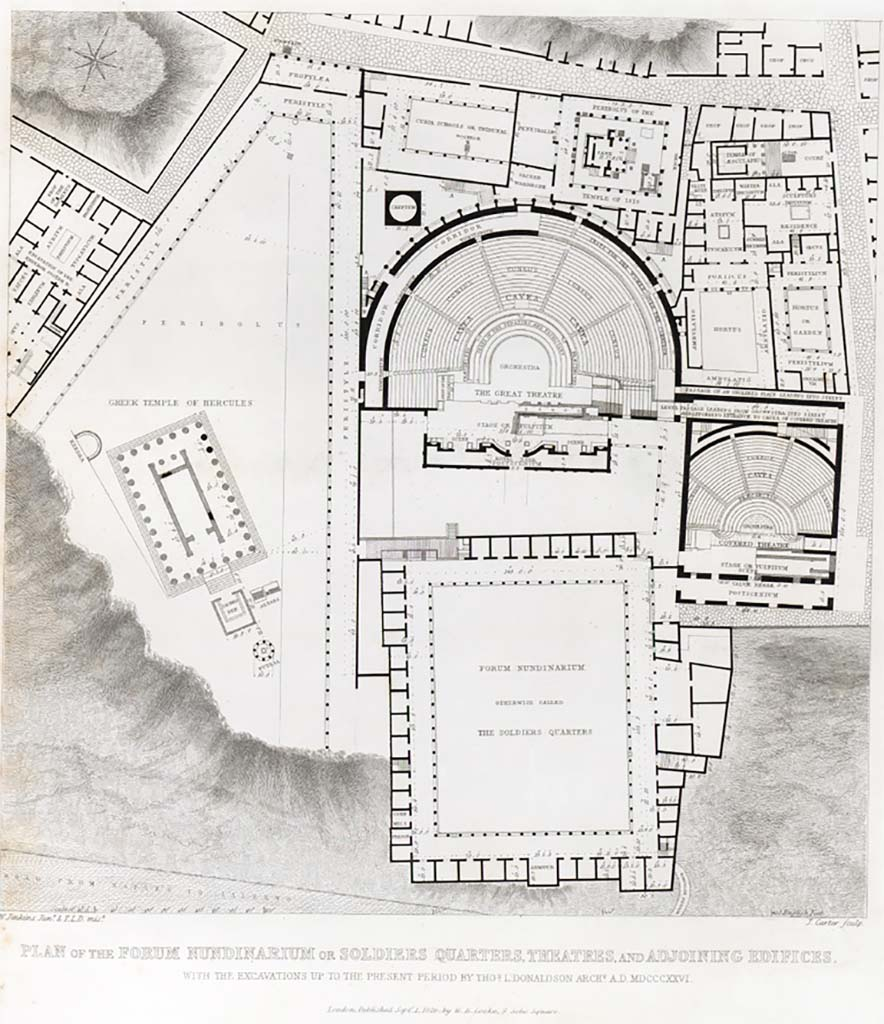 Pompeii Theatres and Triangular Forum 1825